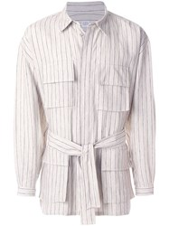 E. Tautz Striped Ralph Jacket Nude And Neutrals