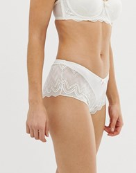 Ted Baker B By Geo Jacquard Logo French Knicker In Ivory White