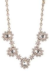 Natasha Accessories Crystal Cluster Frontal Necklace Metallic