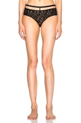 Fleur Du Mal X Playboy Silk Bow High Waisted Panty In Black