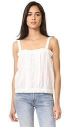 Current Elliott The Lace Tank Star White