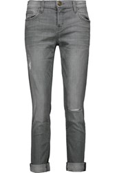 Current Elliott The Rendezvous Destroyed Straight Leg Jeans Gray