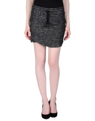 By Zoe Mini Skirts Steel Grey