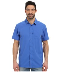 Columbia Slack Tide Camp Shirt Vivid Blue Men's Short Sleeve Button Up