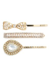 Natasha Couture 3 Pack Embellished Bobby Pins