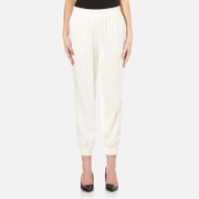 Dkny Women's Joggers With Ribbed Cuffs Gesso White