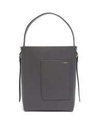 Valextra Small Grained Leather Tote Bag Blue