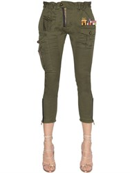 Dsquared Military Cropped Cotton Canvas Pants