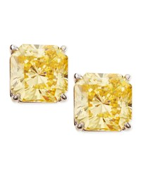 Canary Cubic Zirconia Stud Earrings Fantasia By Deserio Yellow