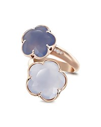 Pasquale Bruni 18K Rose Gold Wrap Ring With Chalcedony And Diamonds Rose Blue
