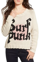 One Teaspoon Women's Surf Punk Intarsia Knit Sweater