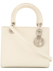 Christian Dior Vintage Lady 2Way Bag White