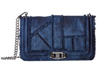 Rebecca Minkoff Denim Love Crossbody Denim Cross Body Handbags Blue