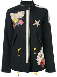 History Repeats Embroidered Jacket Black