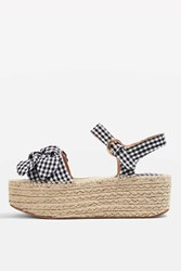 Topshop Wendy Bow Wedges Monochrome