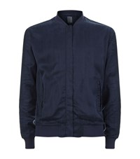 Lot 78 Crepe Bomber Jacket Male Navy