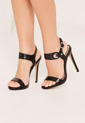 Missguided Black Barely There High Heel Sandals