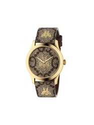 Gucci G Timeless 38 Mm Watch Brown