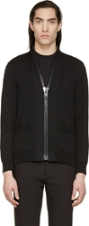 Givenchy Black Oversize Zip Cardigan