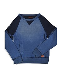 7 For All Mankind Man Kind Boys' Colorblock Waffle Pullover Sizes 8 16