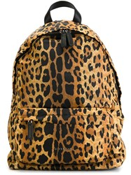 Givenchy Leopard Print Backpack Nude And Neutrals