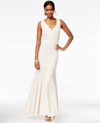 Jump Juniors' Bow Back Lace Gown Ivory