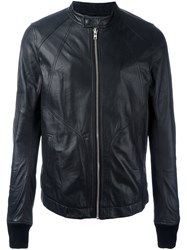 Rick Owens Band Collar Jacket Black
