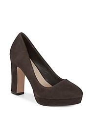 Saks Fifth Avenue Leather Pumps Slate Grey