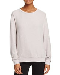 Wildfox Couture Pullover Basic Solid Baggy Beach Lilac Dawn