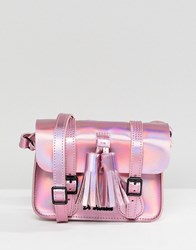 Dr. Martens Dr Leather 7 Mini Iridescent Satchel Mallow Pink