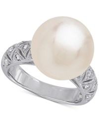 Honora Style Cultured White Ming Pearl 13Mm Ring In Sterling Silver