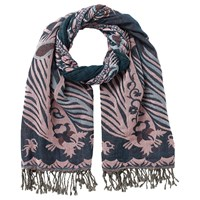 East Jacquard Stretchy Scarf Pink