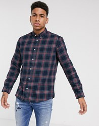 Tom Tailor Check Shirt In Navy