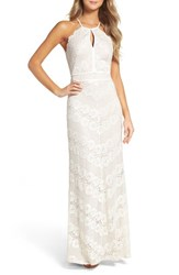 Morgan And Co. Women's Crisscross Lace Gown