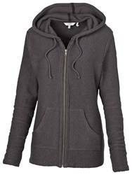 Fat Face Stanford Hooded Fleece Grey Marl