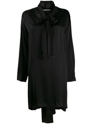 Marios Asymmetric Hem Dress Black