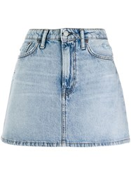 Acne Studios Denim Mini Skirt Blue