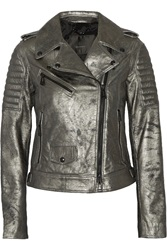 Belstaff Portington Metallic Leather Biker Jacket