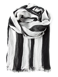 American Vintage Striped Fringed Scarf