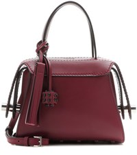 Tod's Twist Mini Leather Shoulder Bag Red