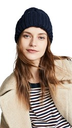 Plush Knit Vegan Beanie Navy