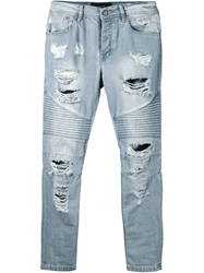 Stampd Distressed Biker Jeans