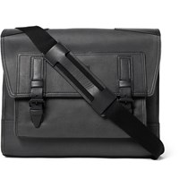 Belstaff Citymaster Two Tone Leather Messenger Bag Black