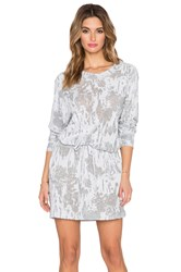 Norma Kamali Boyfriend Sweat Dress Gray