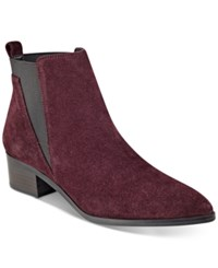 Marc Fisher Ignite Ankle Booties Women's Shoes Burgundy Suede