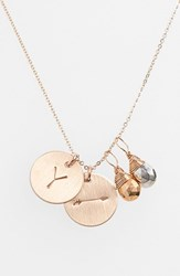 Women's Nashelle Pyrite Initial And Arrow 14K Gold Fill Disc Necklace Gold Pyrite Silver Pyrite Y