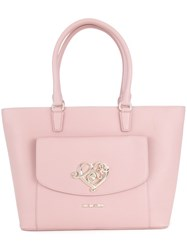 Love Moschino Gold Tone Hardware Shoulder Bag Pink And Purple