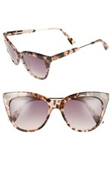 Derek Lam Women's 'Lenox' 53Mm Cat Eye Sunglasses Peach Marble