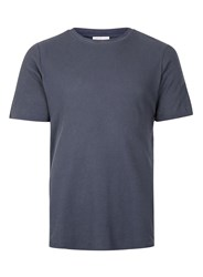 Selected Homme Blue Textured T Shirt