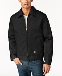 Dickies Men's Ike Lightweight Fully Lined Twill Work Jacket Black